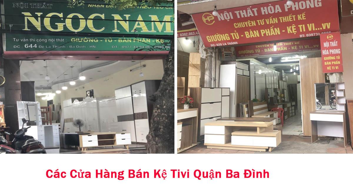Các cửa hàng bán kệ tivi quận Ba Đình, Hà Nội