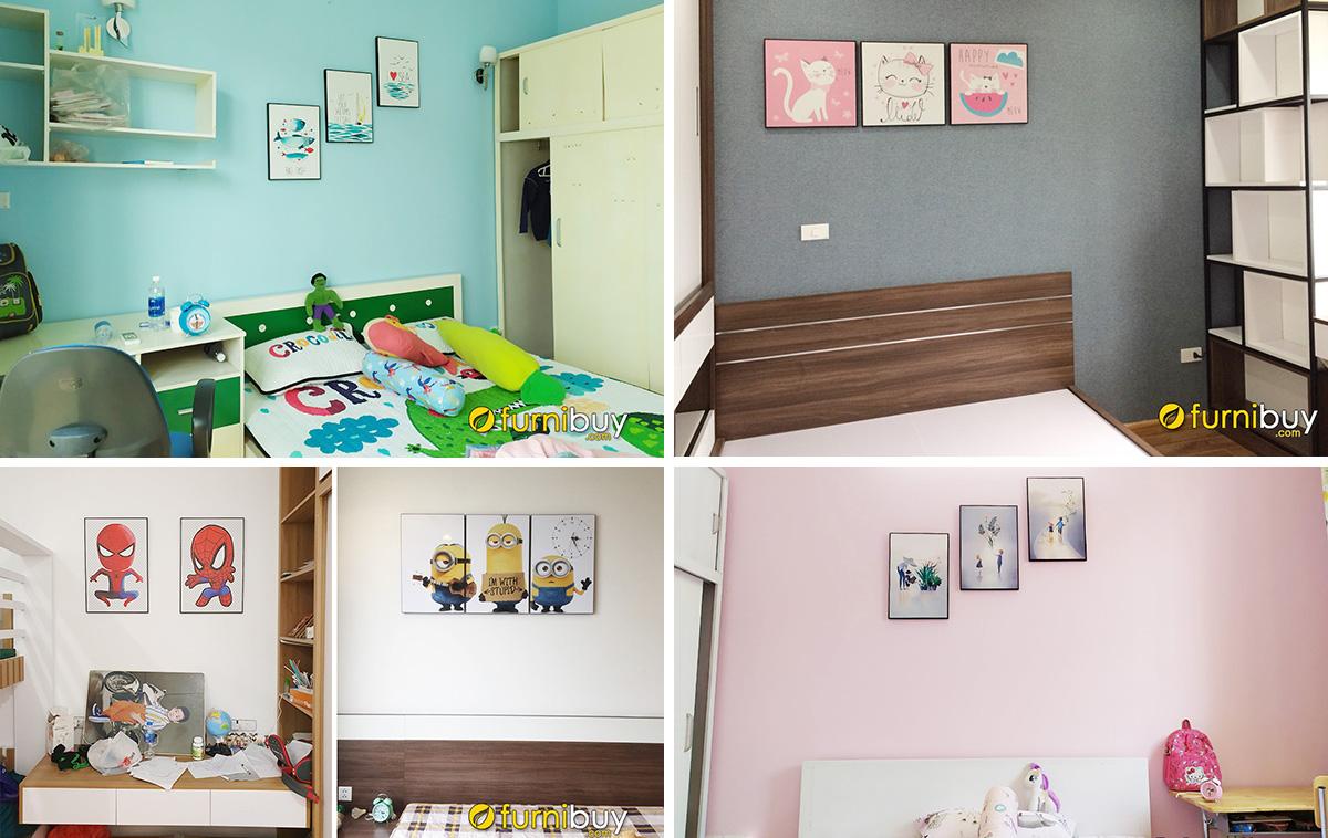 Hình ảnh Các mẫu tranh in canvas cho bé treo tường phòng ngủ đẹp
