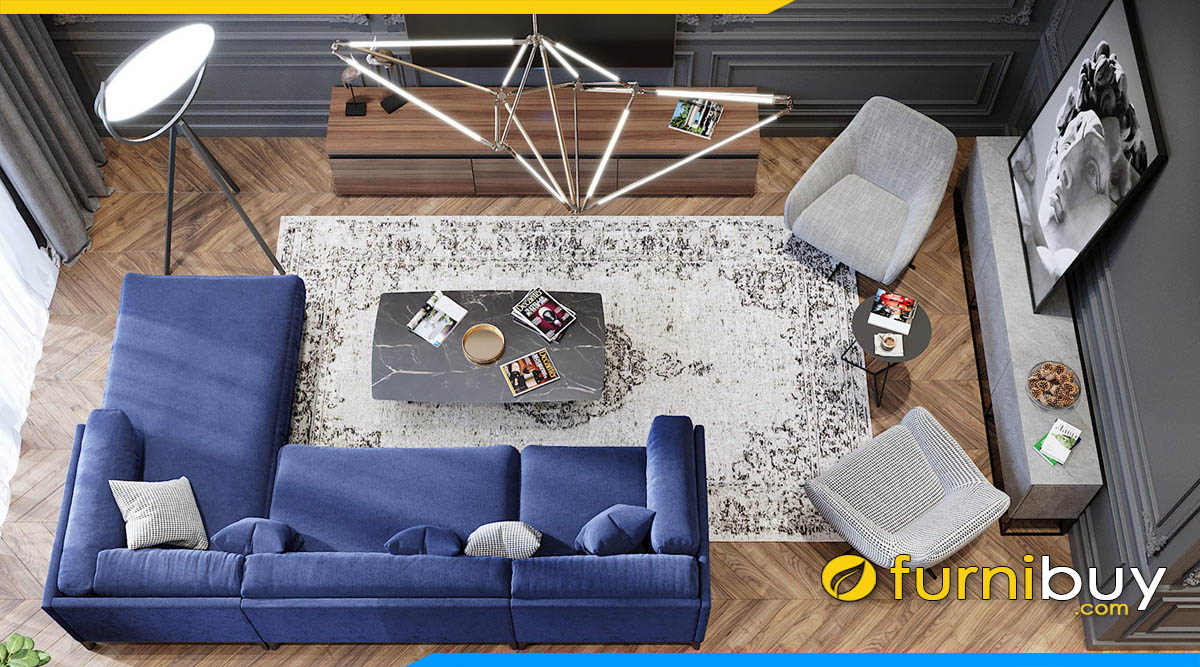 chon sofa cho phong khach 20m2