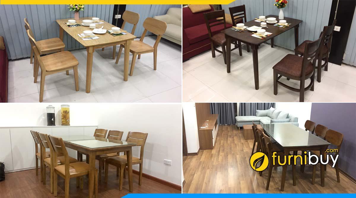 Cửa hàng bàn ghế ăn đẹp Cầu Giấy cực nhiều mẫu sẵn