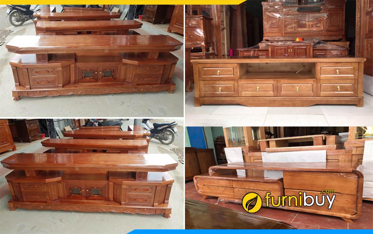 Cửa hàng bán kệ tivi gỗ tự nhiên tại Hà Nội