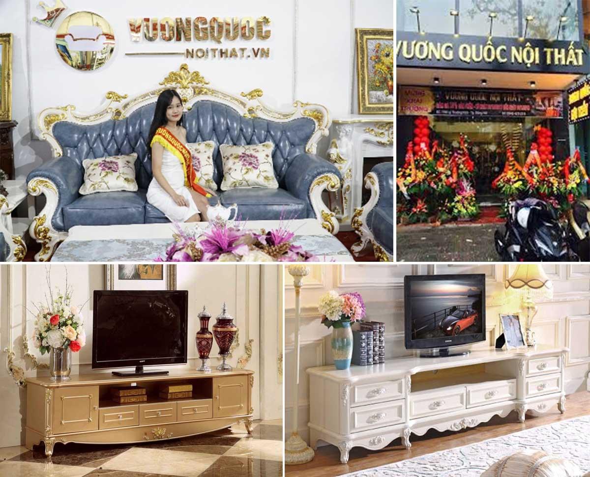Địa chỉ bán kệ tivi nhập khẩu quận Thanh Xuân - Hoàn Mỹ