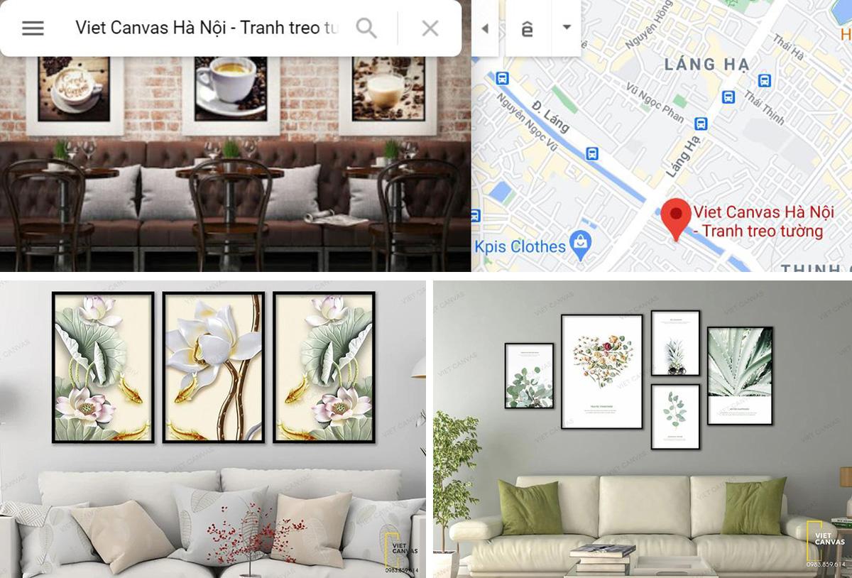 Hình ảnh Địa chỉ và các mẫu tranh canvas của cửa hàng vietcanvas