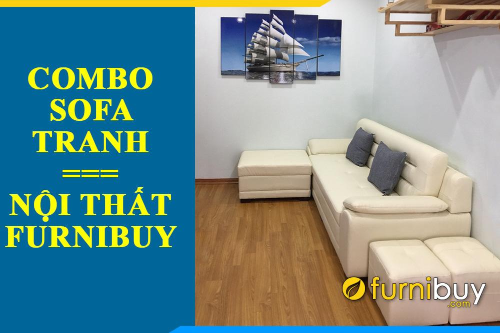 Sofa va tranh thuyen buom dep amia 330 cua furnibuy