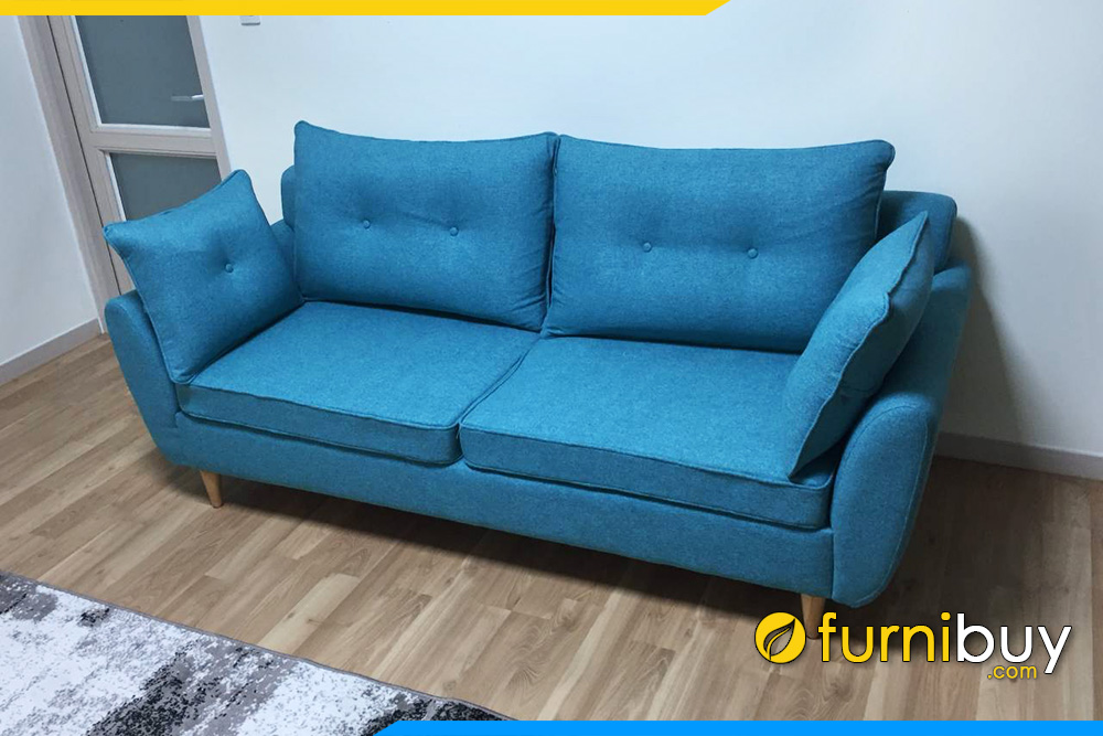 Ghe sofa ni 2 cho dang vang nho mini FB 20207
