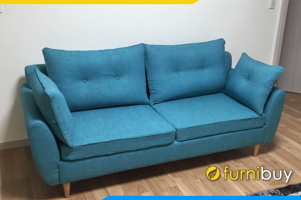 ghe sofa vang ni xanh ke phong khach dep