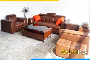 Bo ghe sofa vang 2 ghe chu tay chu v FB Bo 8903