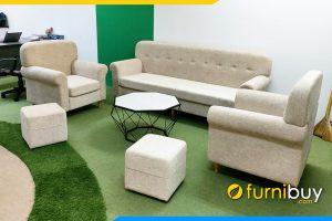 Ghe sofa vang ni 2 ghe chu FB Bo 8907