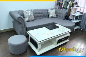 Sofa tan co dien dinh cuc vai ni chu L FBTCD 118