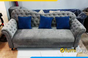 Sofa tan co dien tua lung uon luon dinh cuc sang trongFBTCD 262