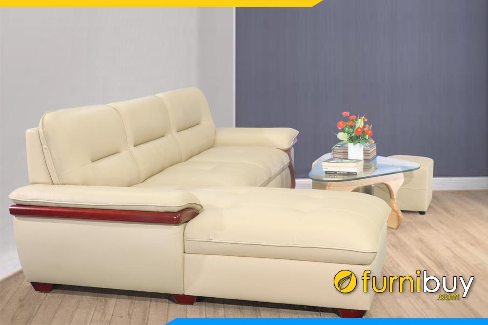ghe sofa da co tay tua op go sang trong fb273