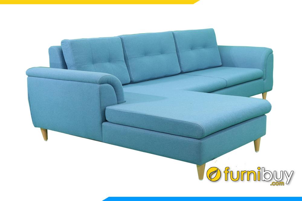 ghe sofa goc chu l boc ni mau xanh pastel