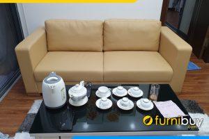 ghe sofa phong khach dep dang vang 2 cho
