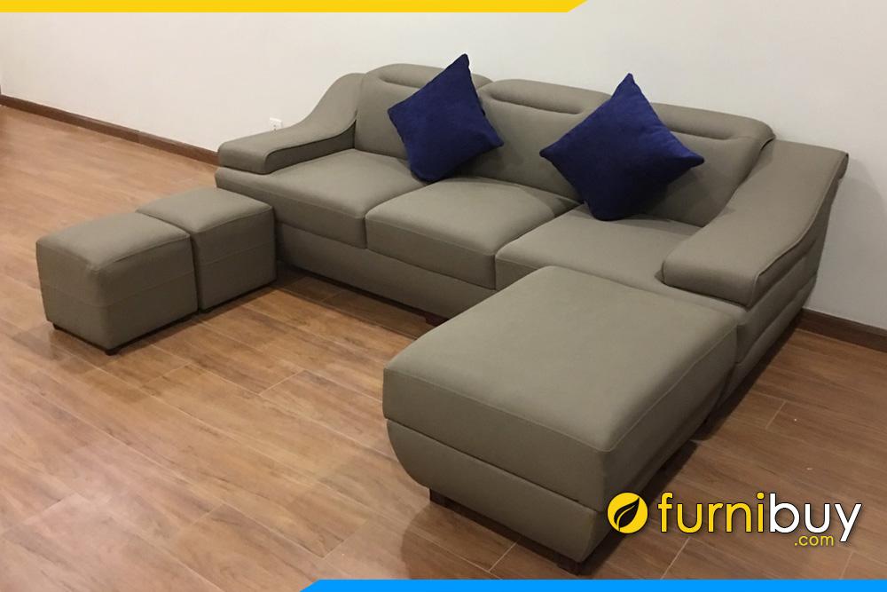 sofa da 3 cho ngoi mau xanh ghi