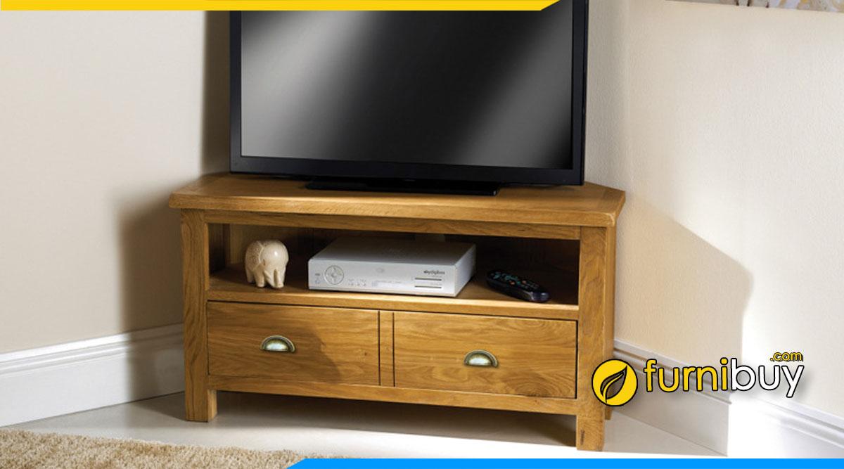 Hình ảnh Mẫu kệ tivi cho phòng ngủ nhỏ 1m3 gỗ sồi đẹp
