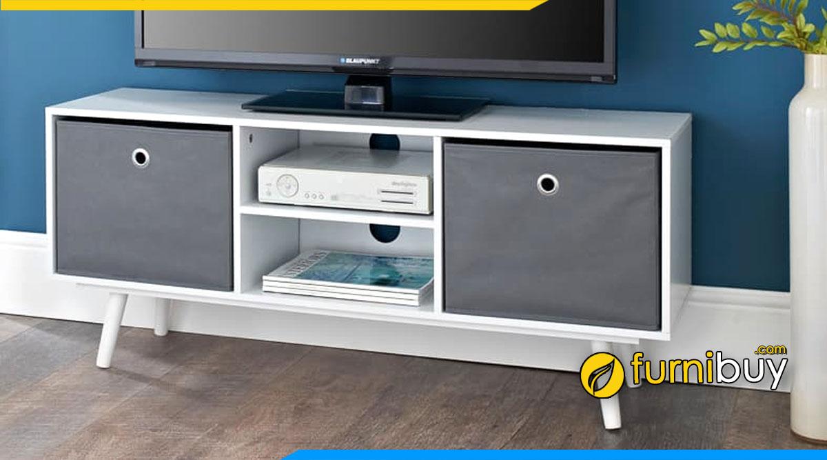 Hình ảnh Mẫu kệ tivi hiện đại nhỏ gọn gỗ MDF giá rẻ kích thước 1m4