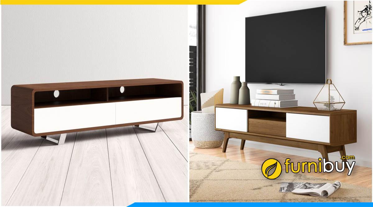 Hình ảnh Mẫu kệ tivi phòng khách chung cư đơn giản