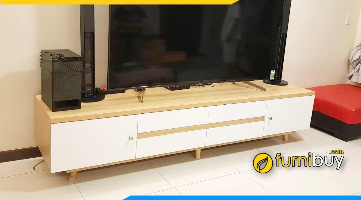 Mẫu kệ tivi phòng khách giá rẻ Hà Nội