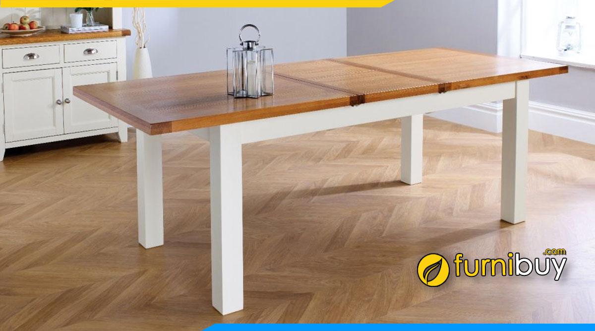 Mẫu bàn ăn thông minh kéo dài đẹp phủ sơn melamine