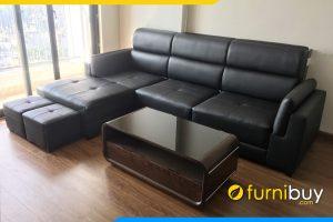 mau ghe sofa da mau den sang trong fb213