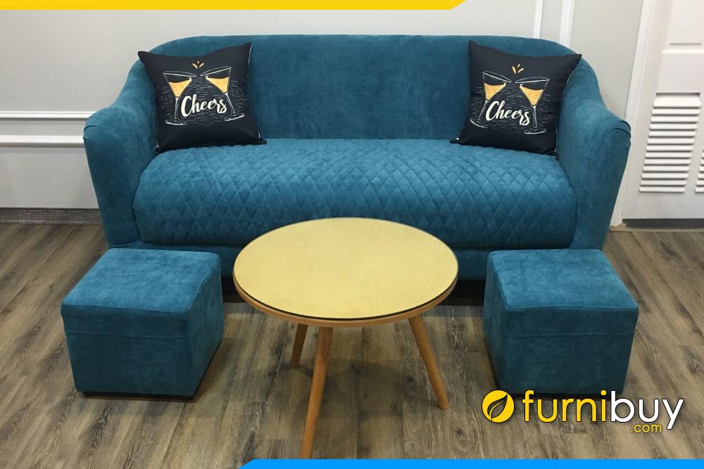 ghe sofa vang mini nho xinh mau xanh