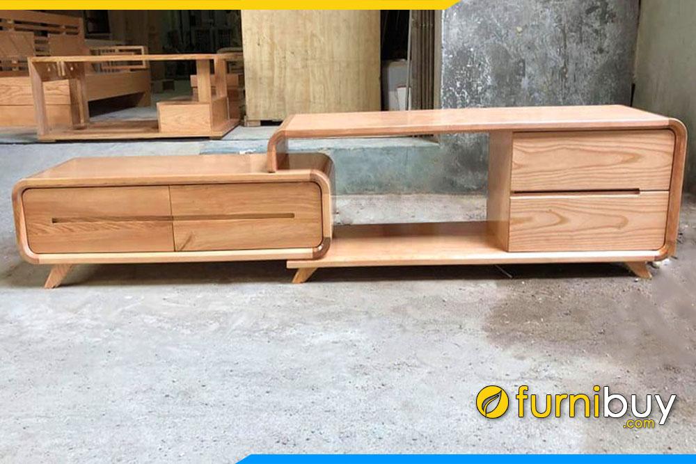 Mẫu kệ tivi gỗ sồi 1m8 Hà Nội FBK007