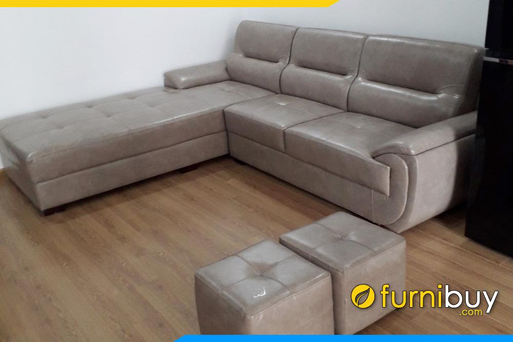 mau sofa da goc bong dep cho nha chung cu fb241