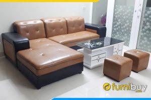 mau sofa phong khach dep mau nau den an tuong fb199