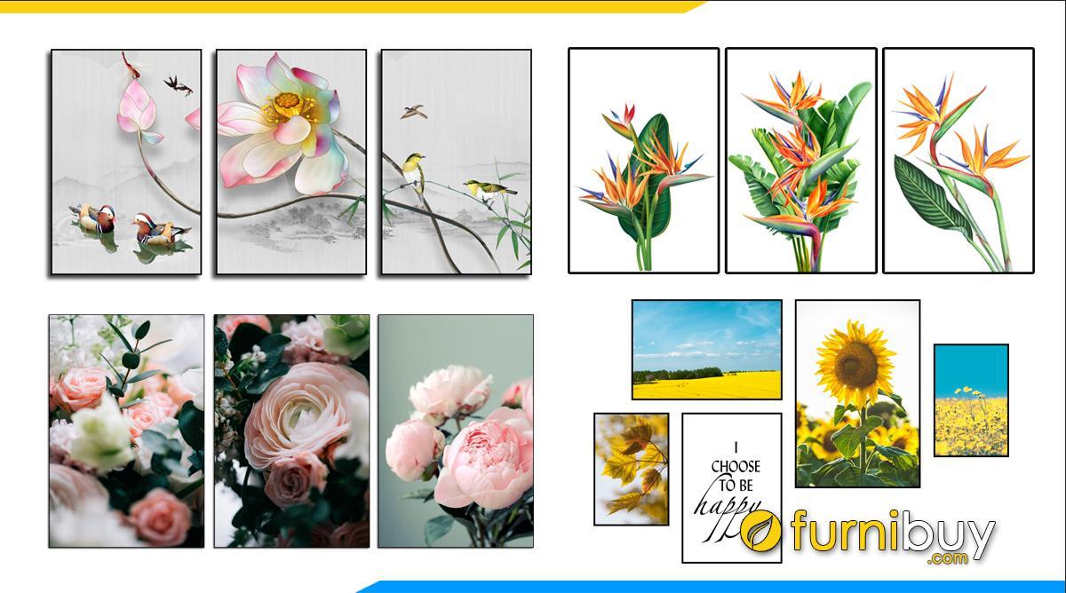 Hình ảnh 50++ Mẫu Tranh Canvas Hoa Đẹp Hiện Đại Trông Cực Tây!!!