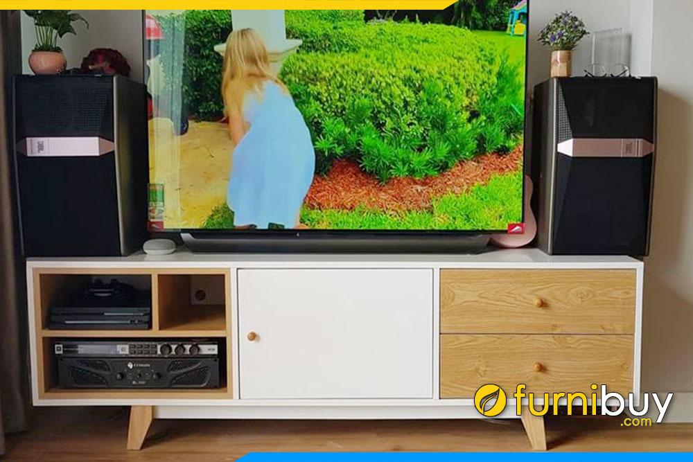 Nơi bán tủ tivi gỗ MDF giá rẻ Hà Nội FBK014