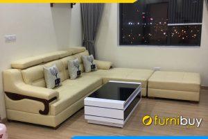 sofa da cho nha chung cu rong fb268