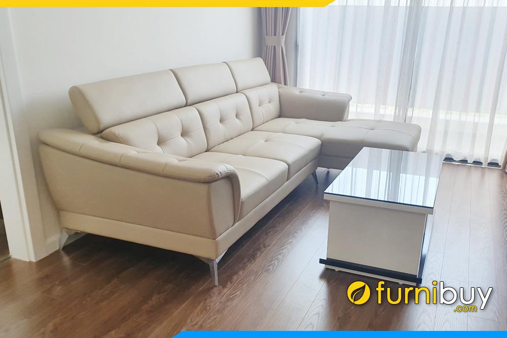 sofa phong khach chung cu kieu dang goc chu l dep fb271