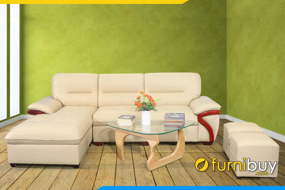 sofa phong khach dep boc da nhap khau fb273