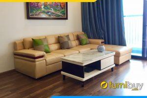 sofa phong khach dep dạng goc chu l