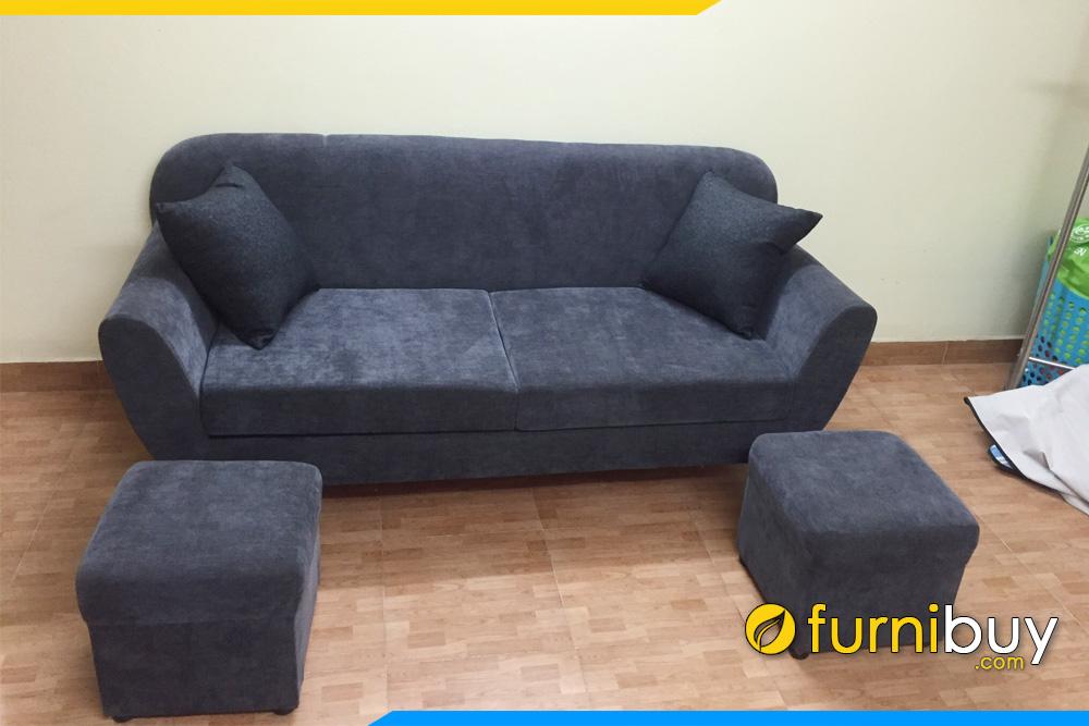 sofa vang ke phong khach nho fb116