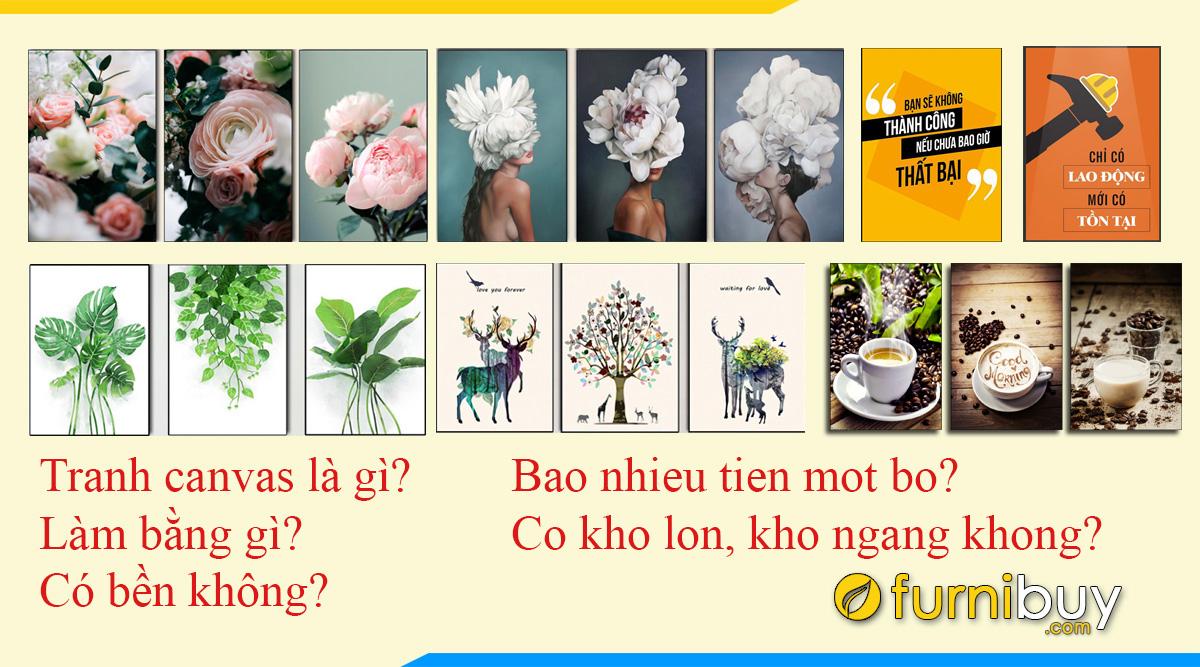 Hình ảnh Tranh Canvas - 5 Câu Hỏi Thường Gặp Có Thể Bạn Chưa Biết!!!
