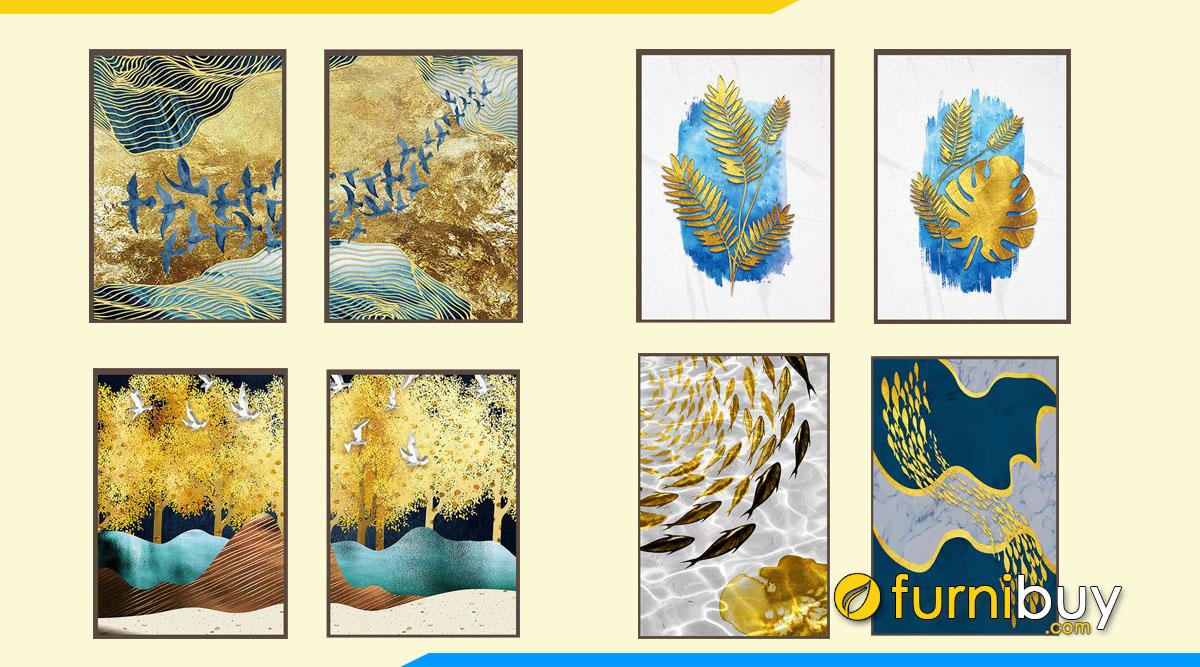 Hình ảnh 50++ Tranh Canvas Màu Vàng Ánh Kim Treo Tường Cực Kỳ Nổi Bật