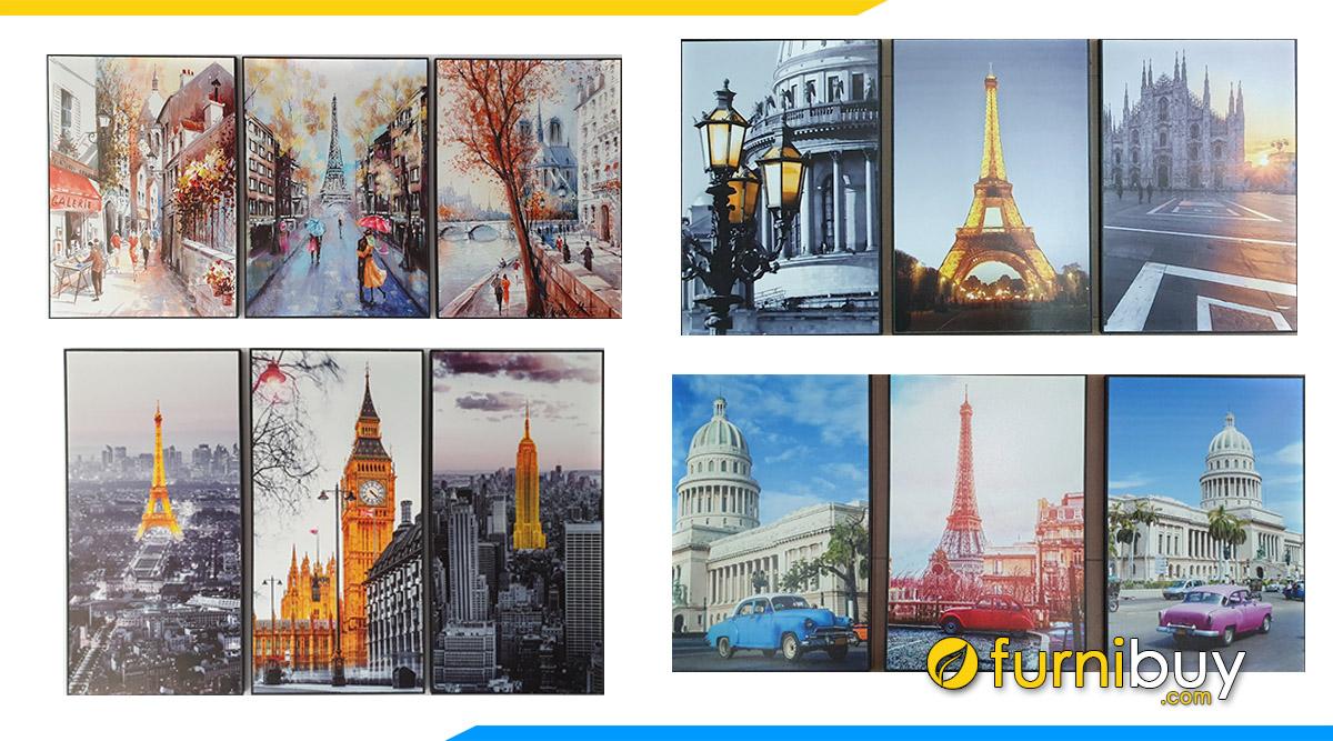 Hình ảnh 25+ Bộ Tranh Canvas Tháp Eiffel Đẹp Như Mơ - Update Liên Tục!!!
