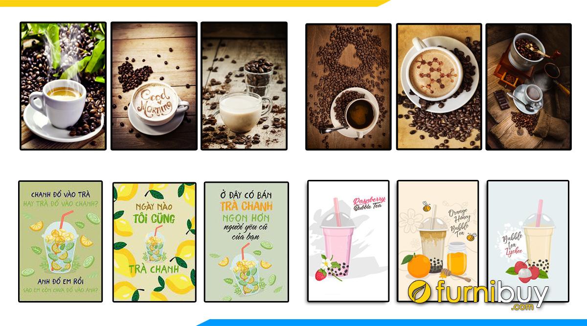 Hình ảnh 50++ Tranh Canvas Trang Trí Quán Cafe, Trà Sữa, Trà Chanh Đẹp Nhất