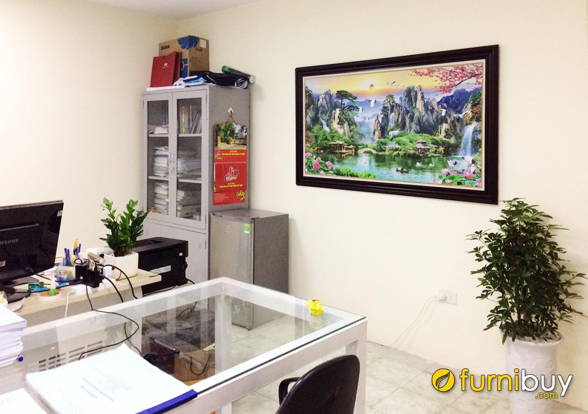 Hình ảnh Tranh sơn thủy hữu tình 1 tấm mừng khai trương công ty