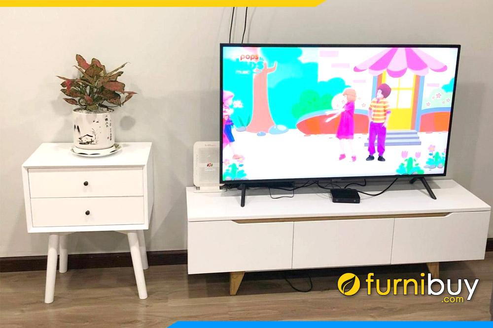 Hình ảnh Kệ tivi phòng khách đẹp phủ sơn melamine FBK011