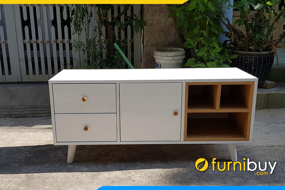 Tủ tivi gỗ đẹp kích thước 1m6 nhỏ gọn FBK014