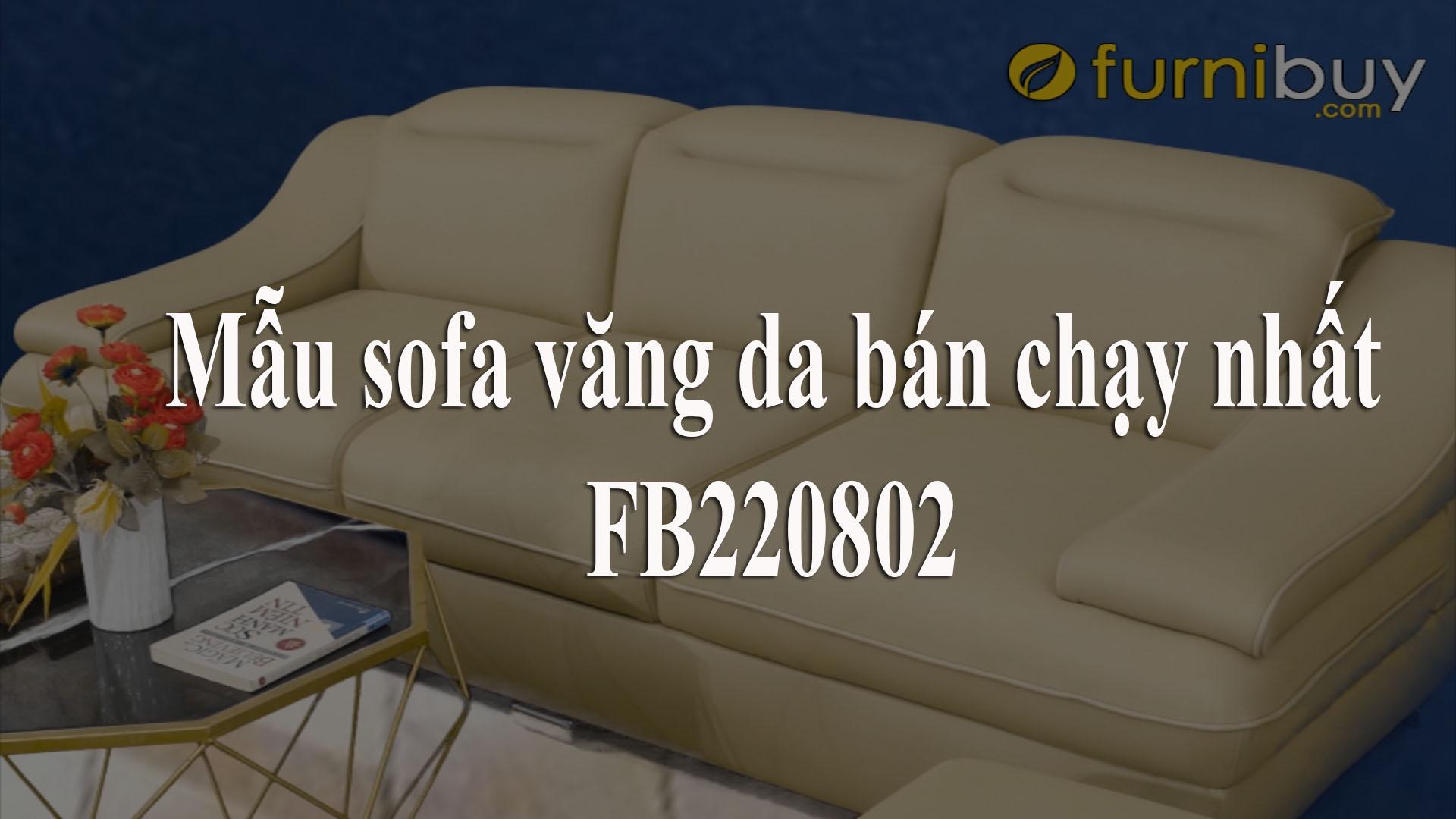 Văng da 3 chỗ ngồi cho phòng khách nhỏ FB 220802