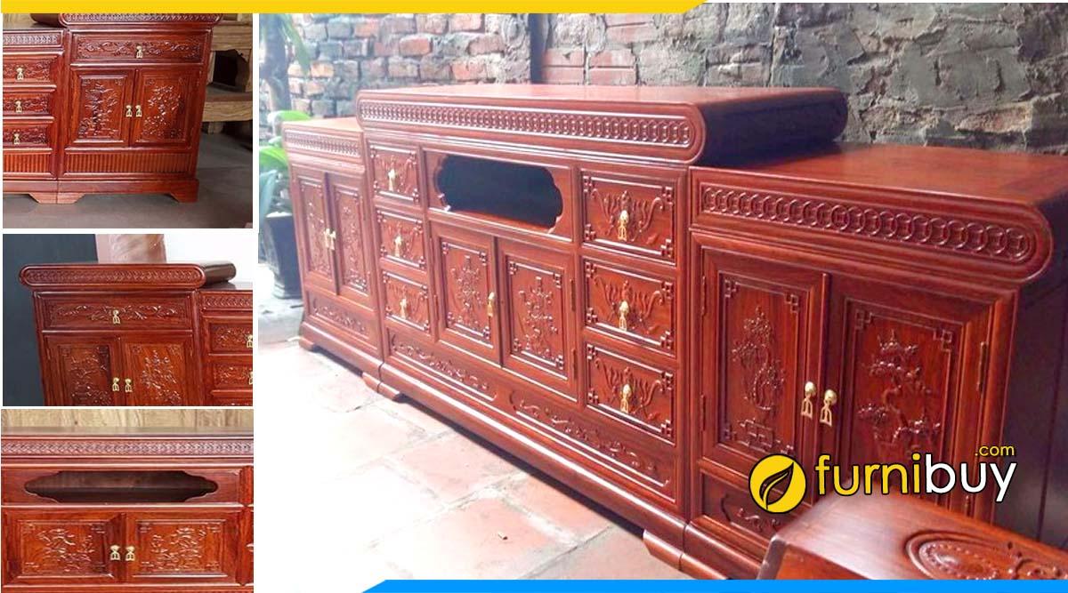 Hình ảnh Mẫu kệ tivi gỗ Hương Vân Đồng Kỵ giá rẻ