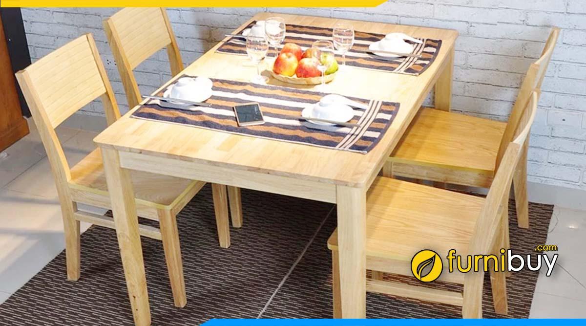Bộ bàn ghế ăn cherry gỗ sồi hiện đại đẹp