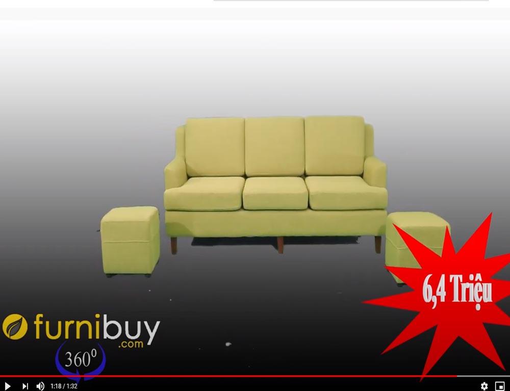 Sofa nỉ màu xanh cốm