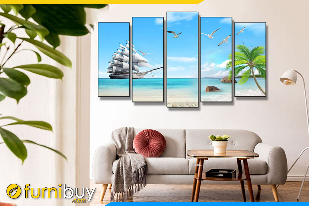 Tranh treo tường phòng khách hiện đại AmiA TBXG 01