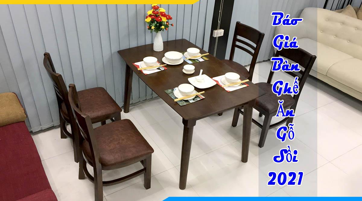 Báo giá bàn ghế ăn gỗ sồi mới nhất 2020