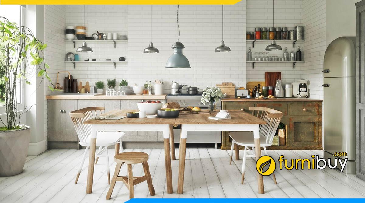Hình ảnh Bàn ăn 2 ghế phong cách bắc Âu đẹp kiểu dáng hiện đại