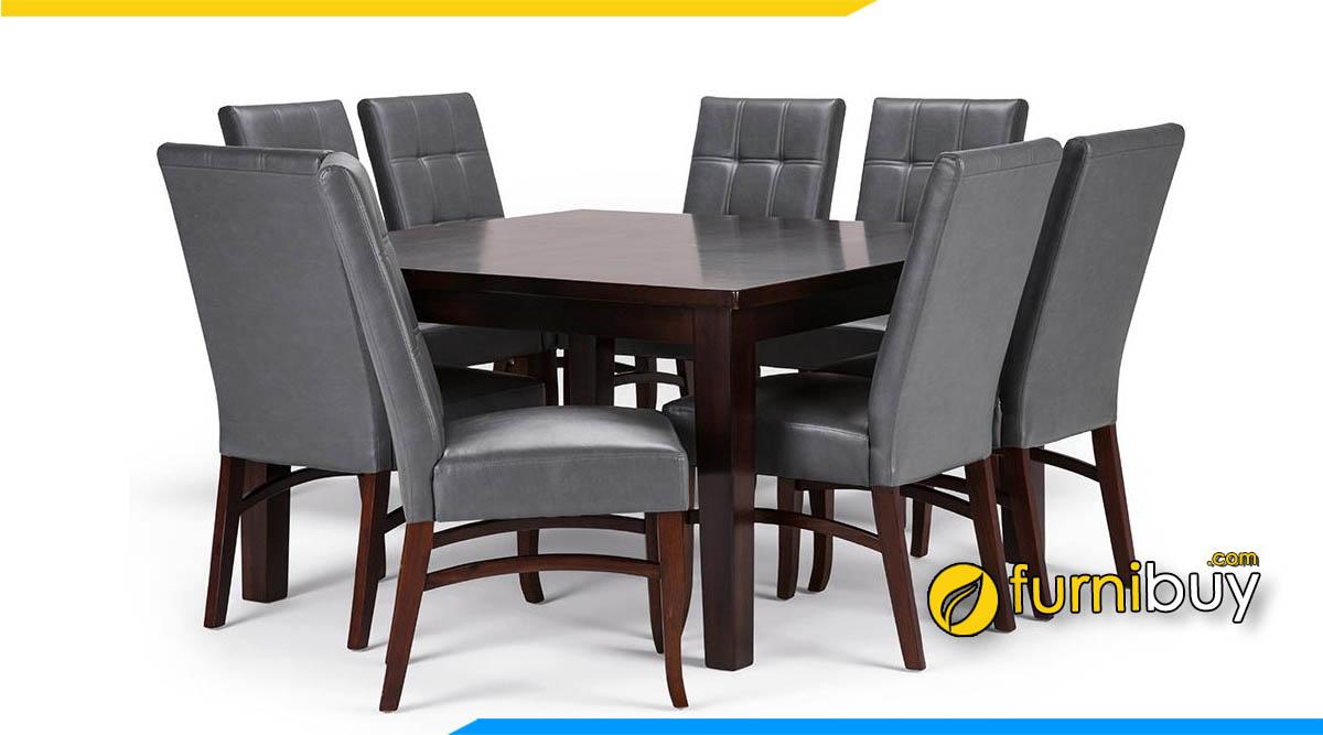 Hình ảnh Bộ bàn ghế ăn bọc da PU đẹp hiện đại